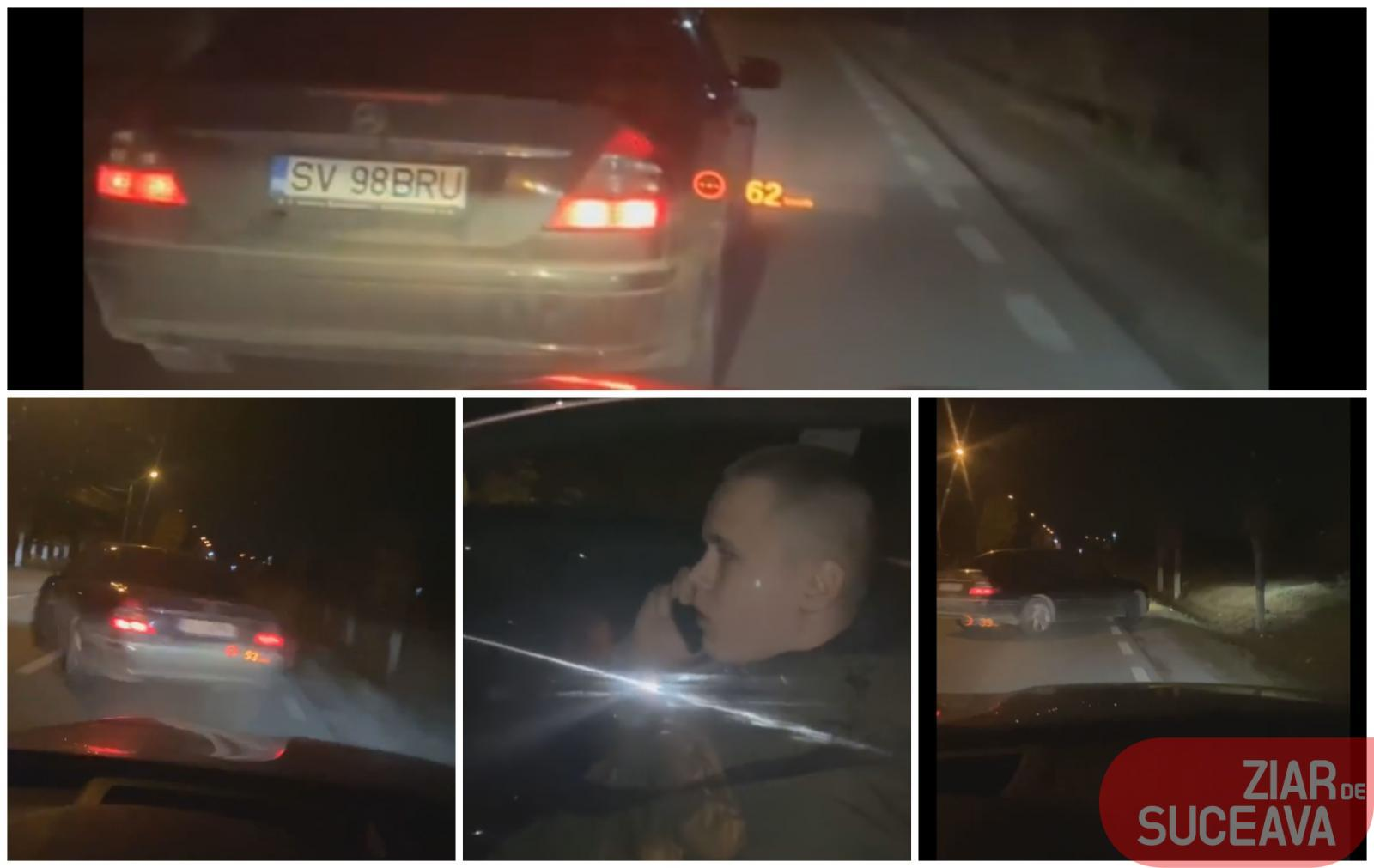 Momentul în care autoturismul lui Daniel Bodnar a fost lovit intenționat