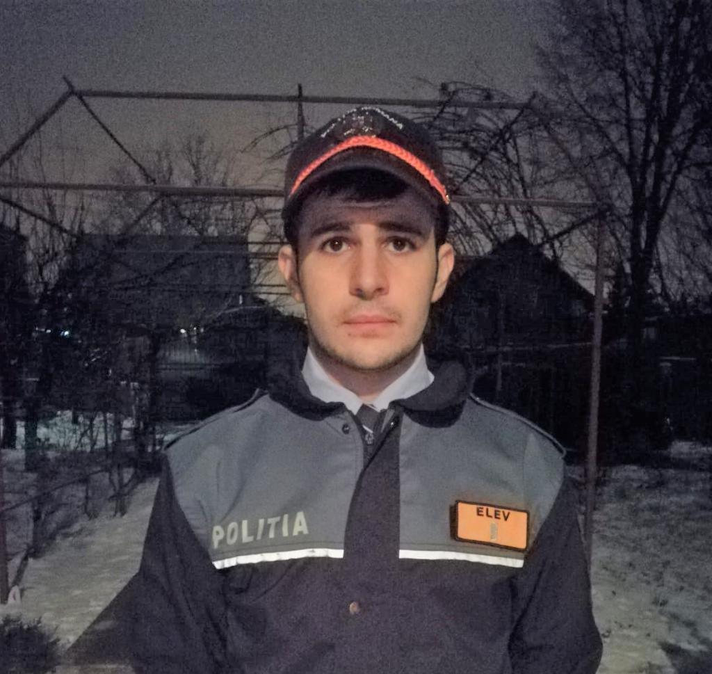 Elevul polițist Ciubotariu Răzvan-Daniel